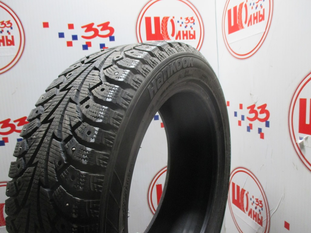 Б/У 195/55 R16 Зима Шипы  HANKOOK Winter I*Pike W-409 Кат. 3