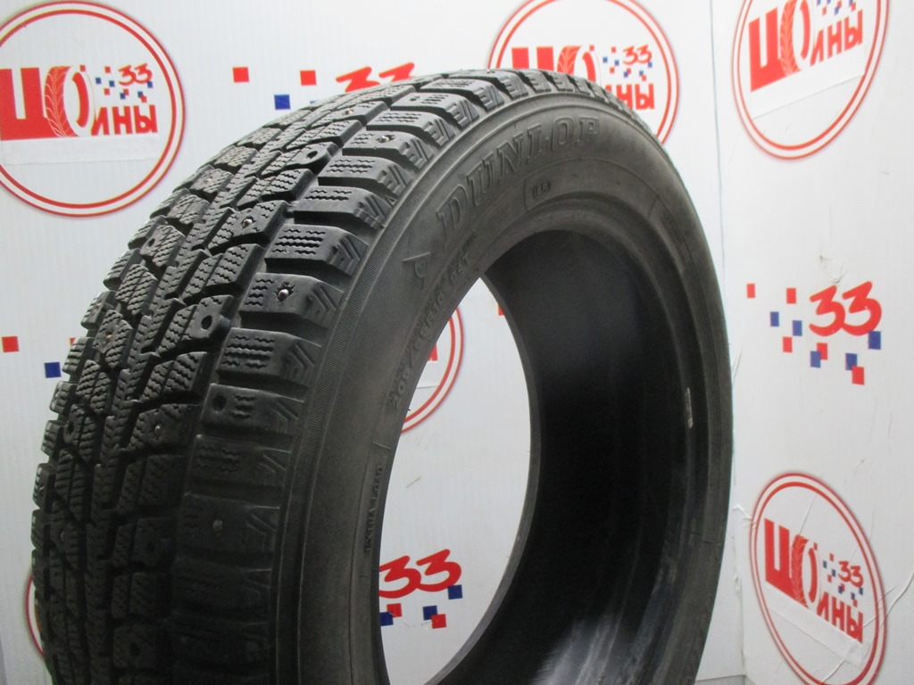Б/У 205/55 R16 Зима Шипы  DUNLOP SP Winter Ice-01 Кат. 3