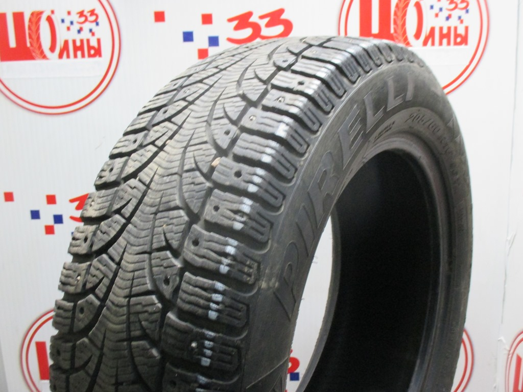 Б/У 205/60 R16 Зима Шипы  PIRELLI Winter Carving/Carving Edge Кат. 4