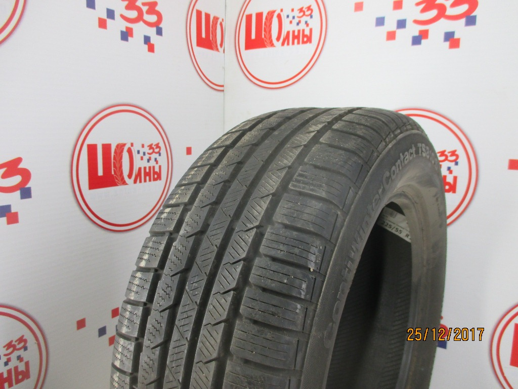 Б/У 225/55 R16 Зима CONTINENTAL C.Winter Contact TS-810S Кат. 3