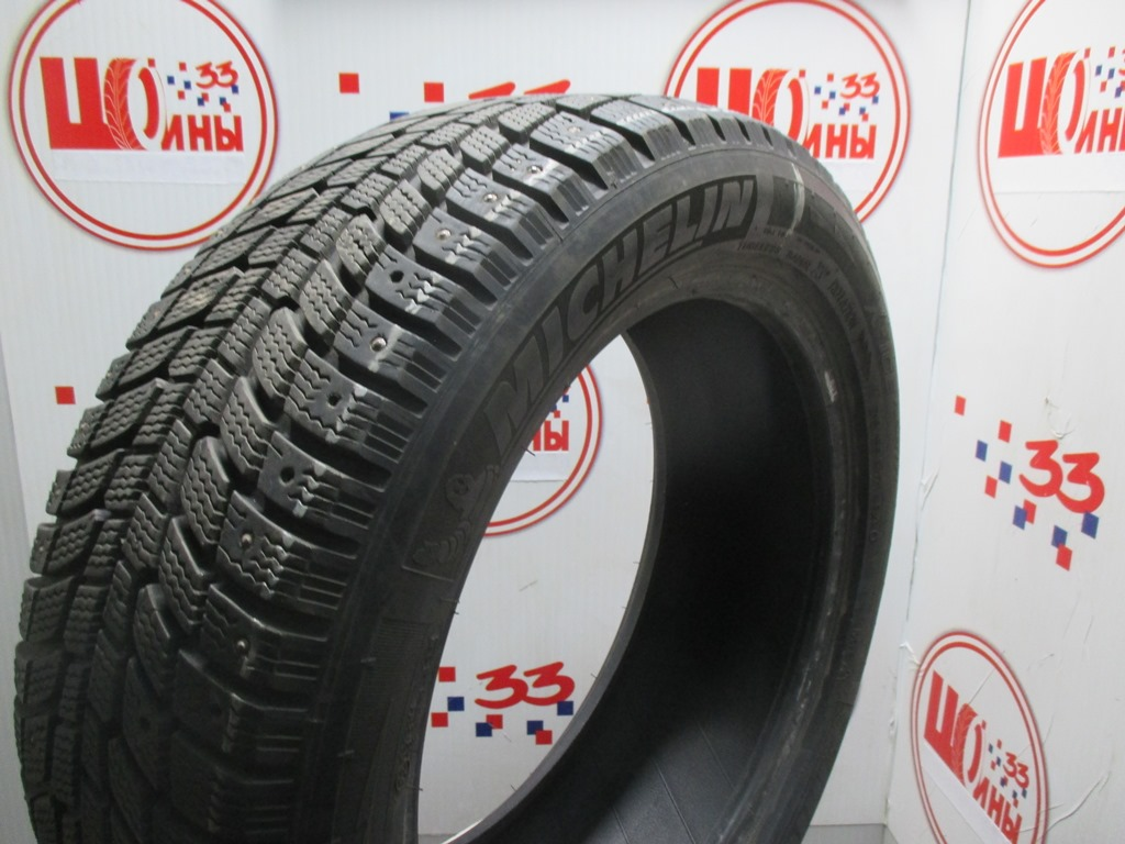 Б/У 215/55 R17 Зима Шипы  MICHELIN X-Ice North Кат. 3