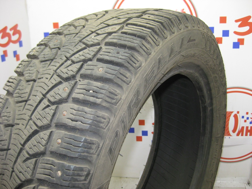 Б/У 195/55 R15 Зима Шипы  PIRELLI Winter Carving/Carving Edge Кат. 5