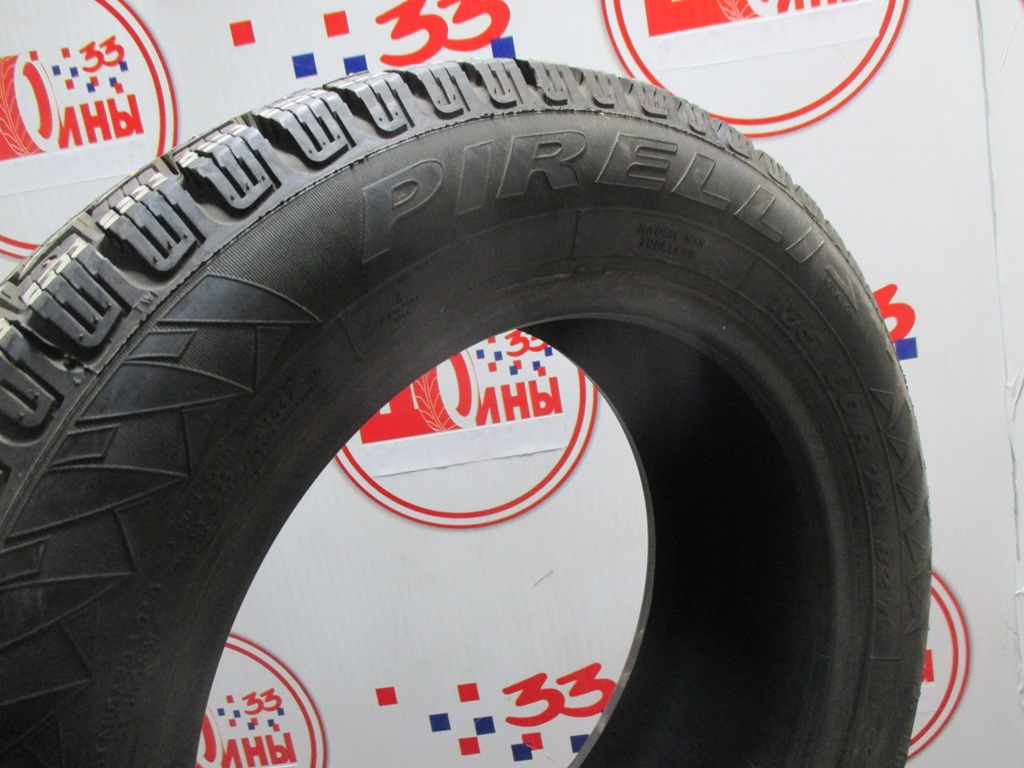 Б/У 185/60 R14 Зима Шипы  PIRELLI Winter Carving/Carving Edge Кат. 2