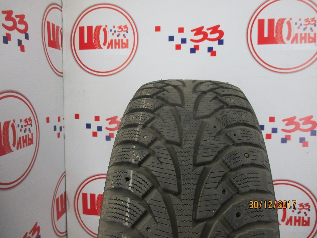 Б/У 225/55 R17 Зима Шипы  HANKOOK Winter I*Pike W-409 Кат. 4