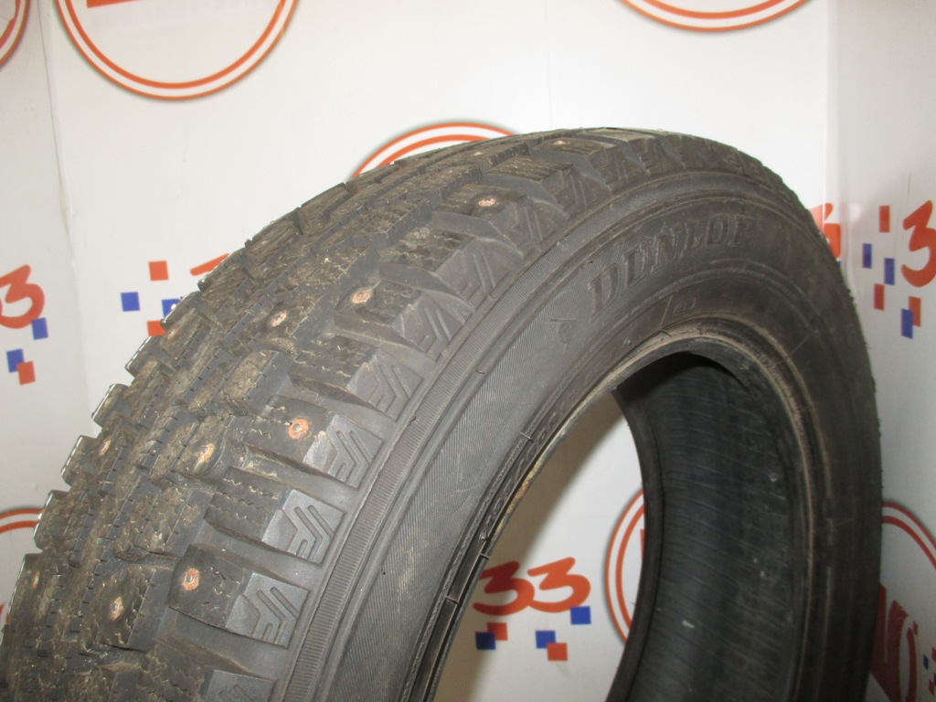 Б/У 195/60 R15 Зима Шипы  DUNLOP SP Winter Ice-01 Кат. 1