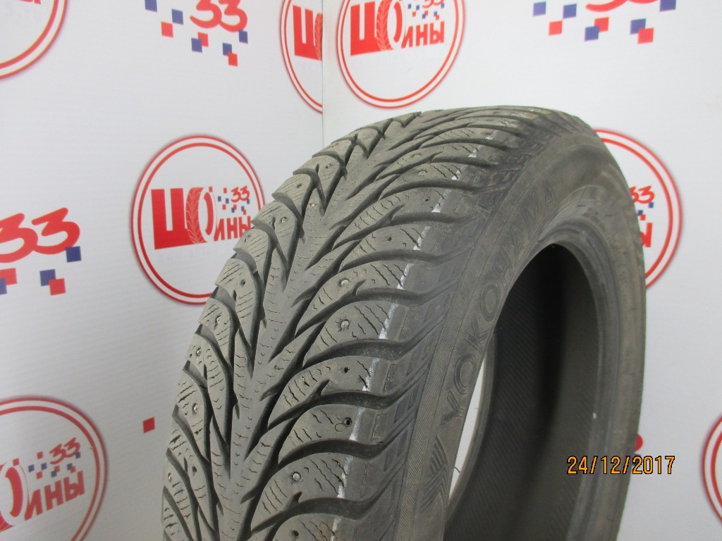 Б/У 215/60 R16 Зима Шипы  YOKOHAMA Ice Guard IG-35 Кат. 4