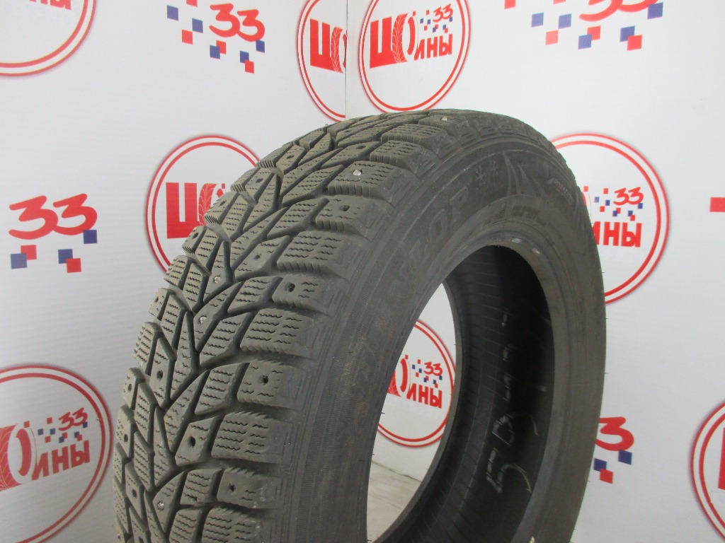 Б/У 195/65 R15 Зима Шипы  DUNLOP SP Winter Ice-02 Кат. 4
