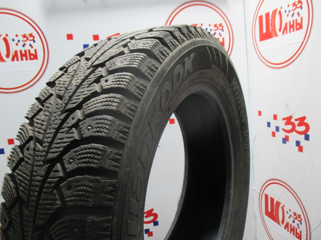 Б/У 195/65 R15 Зима Шипы  HANKOOK Winter I*Pike W-409 Кат. 4
