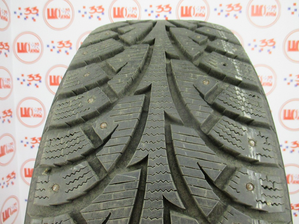 Б/У 225/55 R17 Зима Шипы  HANKOOK Winter I*Pike W-409 Кат. 2