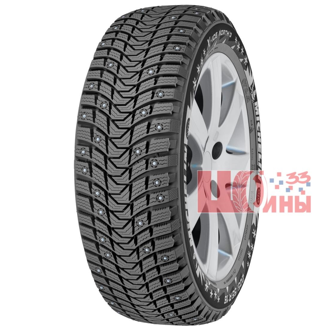 Б/У 225/45 R17 Зима Шипы  MICHELIN X-Ice North-3 Кат. 3